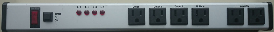 Electrical Timer Power Outlet With Indicator Lights For Constant Charging